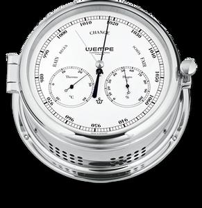 Bilde av Wempe Admiral II: Barometer, termometer og hygrometer - chrome