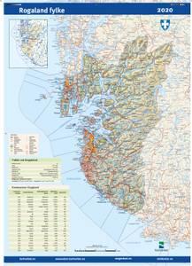 Bilde av Fylkeskart Rogaland